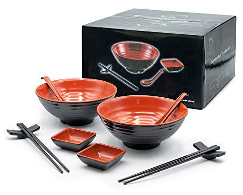 JB Japanese Style Soup Bowl 32 oz (2 Sets/10 Piece)- Two Large...