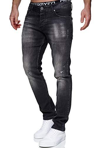 MERISH Jeans Herren Slim Fit Jeanshose Stretch Denim Designer Hose 1507 (33-34, 1507-5 Anthrazit)