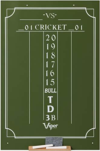 Viper Chalk Scoreboard: Cricket and 01 Dart Games, Green, 23.5' H x 15.5' W