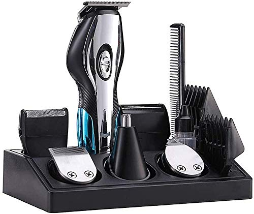 CHEIRS 6 in 1 Mens Beard & Mustache Trimmers, Hair Clippers Rechargeable Grooming Kit Professional Beard Trimmer for Beard, Head, Body, and Face Best Gifts Give to Men Father Husband Boyfriend