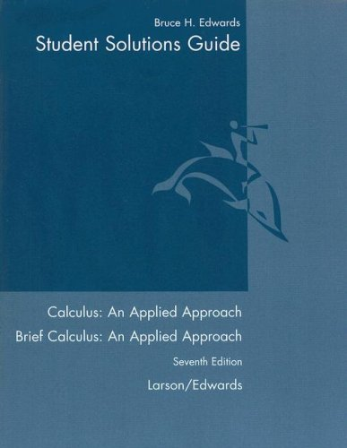 Calculus an Applied Approach Student Solutions Guide