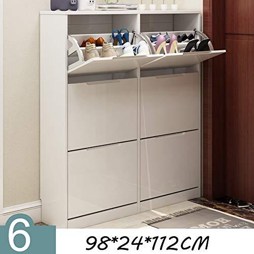 QFFL Shoe Rack Chaussure Mince Peint Peinture Seau Range-chaussures Moderne Simple Grande Capacité Foyer Locker Console Cabinet 98 * 24 * 112 CM Range-chaussures (Couleur : B)