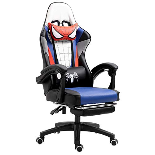Spider-Man Esports Chair Computer Chair Home Lift Office Chair Competitive Chair Game Chair Back Swivel Chair seat (Color : White)