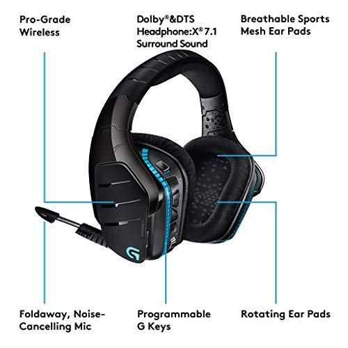 Logitech Artemis Spectrum g933 Binaural Stereo Black Headphones with Microphone - Headphones with Microphone (Wireless, USB, PC/Games, Earphones, 20 - 20000 Hz, Binaural)