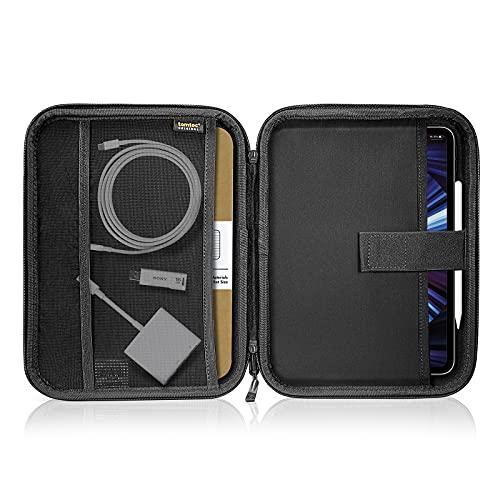 tomtoc Funda Portafolio Organizador para 11' iPad Pro 2021-2018 (3.ª, 2.ª y 1.ª Gen)/ 10,9' iPad Air 4/ 10,2' iPad con Magic Keyboard, Estuche para Tablet y Accesorios como Lápiz, Cable, Adaptador