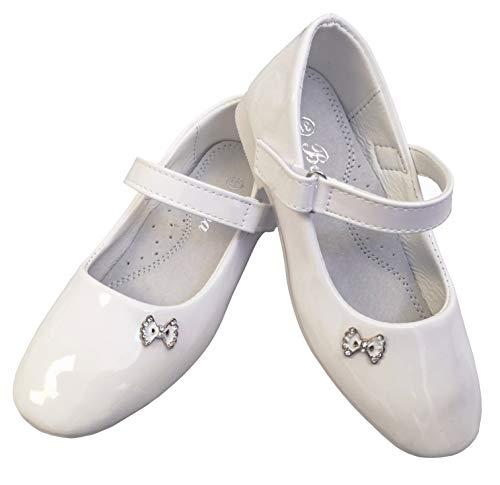 Zapatos de comunión para comunión de la marca DE, zapatos de lacado., color Blanco, talla 30 EU