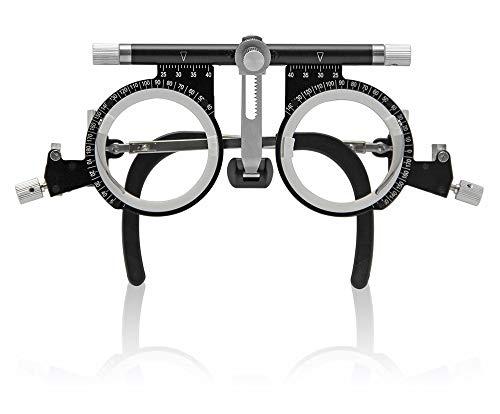 CGOLDENWALL Gafas Optometría Lente de Prueba Óptica Marco de Gafas Optometría de Titanio Ultraligero Ideal para Escuelas, Oftalmología De Hospitales, Tiendas De Óptica (PD: 50-80)