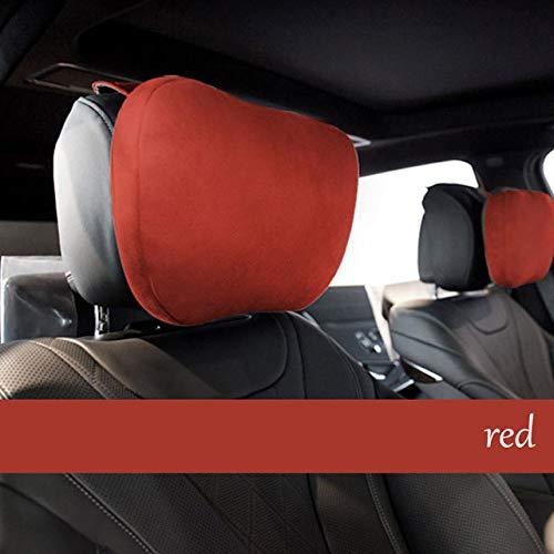 TZYKCN Hoofdsteun, nekkussen, hoofdsteun, hetzelfde autokussen rood