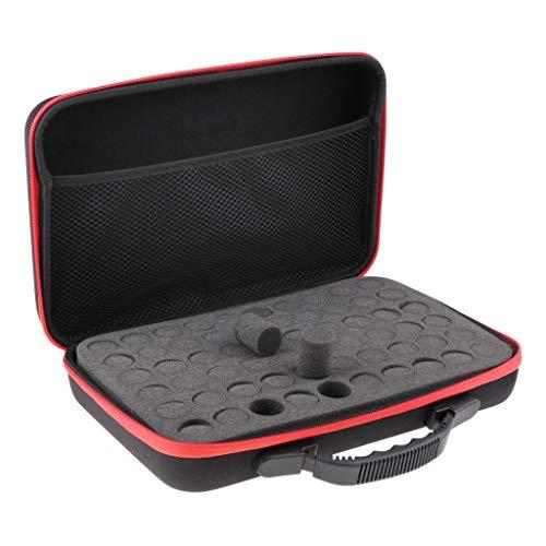 dailymall Ätherische Öle Tragekoffer Tasche 5ml 10ml 15ml Flaschen Hartschale Aufbewahrungsbox perfekt für die Reise - Rot, 32 x 22,5 x 9 cm