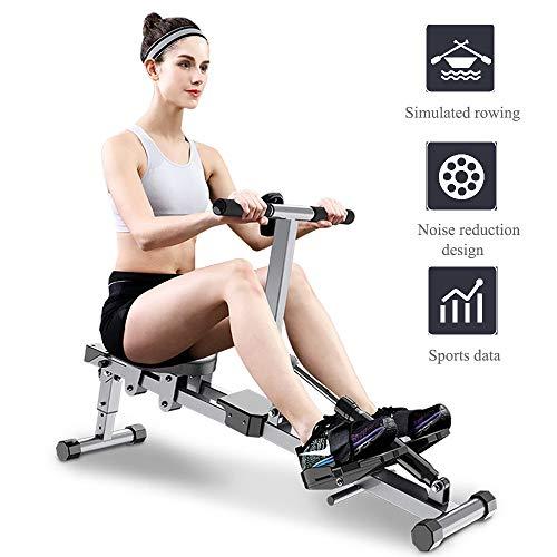 Máquina Practicar el Remo Aparato Fitness para casa, Entrenamiento de Cuerpo Entero, Ajuste de 12 velocidades,Unisex