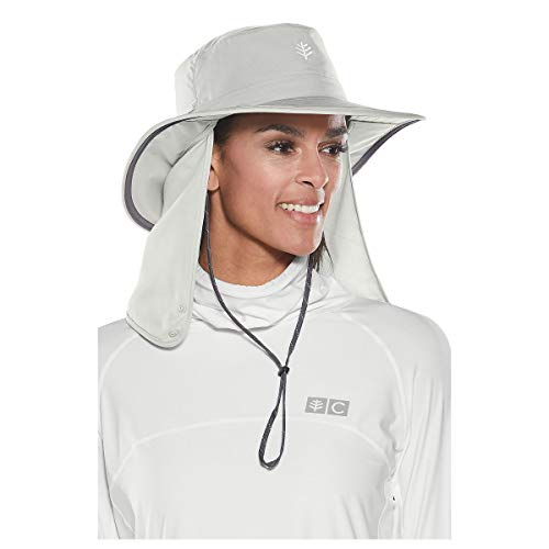Traclet Chapeau Convertible Boating UPF 50+ Gris- Coolibar - S-M soit 55-57 cm
