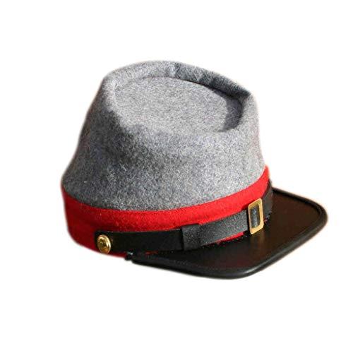 American Civil War CS Confederate Grey with red Band Kepi (S)