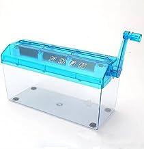 ZCSMTZ Manual Shredder,A4 Paper Hand-Cranked File Shredder,Paper Cut Shredder for Office Home School (Blue) photo