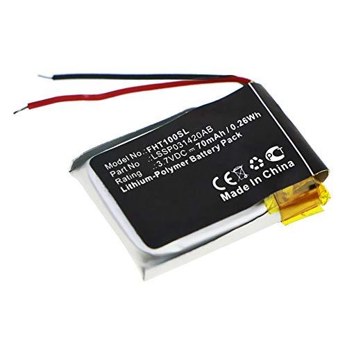 subtel  Batteria LSSP031420AB Compatibile con Fitbit Charge HR Ricambio da 70mAh Sostituzione per Batteria Orologio smartwatch