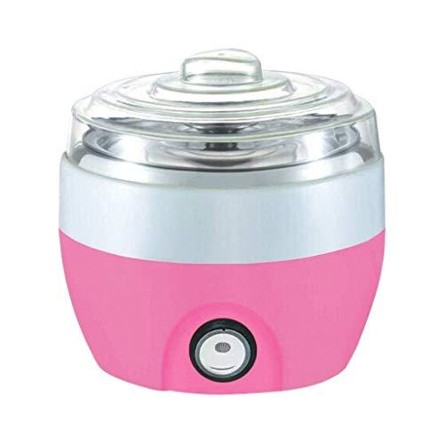 Zixin Mini máquina de Yogur, Forro de Acero Inoxidable Hogar Yogurt de Yogur, Vino de arroz Mini máquina de fermentación casera (Color: Rosa) (Color : Pink)