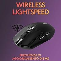 Logitech G305 LIGHTSPEED Mouse Gaming Wireless, Sensore 12K HERO, 12.000 DPI, Design Leggero, 6 Pulsanti Programmabili, Batteria 250 Ore, Memoria Integrata, PC/Laptop - Nero #2