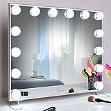 WONSTART Hollywood Espejo Maquillaje con luz,Espejo de Maquillaje montado Mesa/en la Pared con 14...