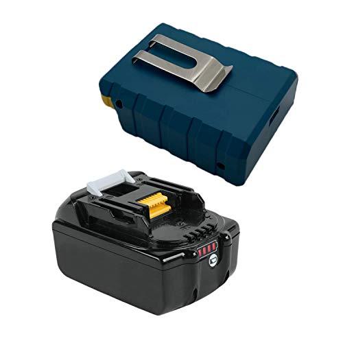 TPLS Batería de repuesto de iones de litio Makita de 18 V, 5,0 Ah/5000 mAh, con adaptador de batería con interfaz USB de 2,1 A para herramientas Makita de 18 V