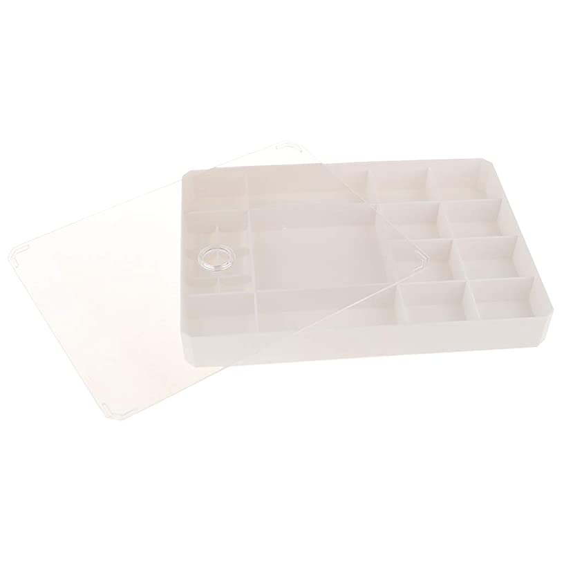SM SunniMix 12 Grids Jewelry Box Drawer Organizer w/Transparent Cover for Bracelets Rings Watches, (10 x 7 x 1.3 inches) - White