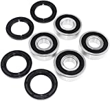 compatible with HONDA TRX350TM 350 2x4 Rancher ATV Bearings kit both sides Front Wheel 2000-2006 (Aftermarket Parts)