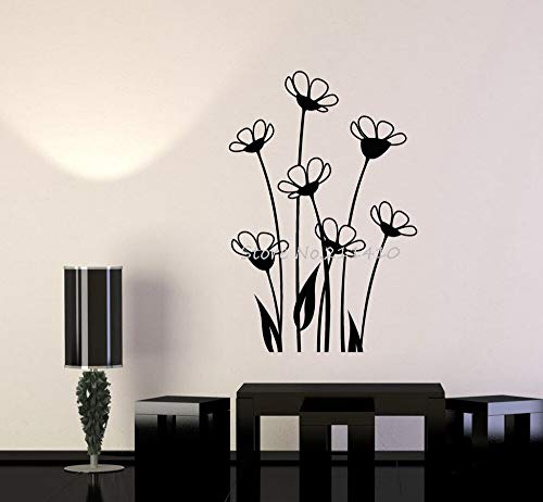 Tianpengyuanshuai Einfaches Design Vinyl Wandtattoo niedlichen Blumenstrauß Hausgarten Dekoration Exquisite Kunst Aufkleber einzigartiges Geschenk 40x27cm