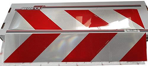 Orafol Container Warnmarkierung, mikroprismatisch, selbstklebend, 141 mm x 705 mm, 4 Streifen (2 x links, 2 x rechts)
