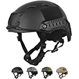 HYOUT Fast Base Jump Helmet BJ Style Airsoft Helmets U.S Military Tactical Helmet for Paintball Outdoor Sports Hunting Shooting