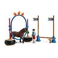 The agility race promotes the confidence and foot safety of ponies