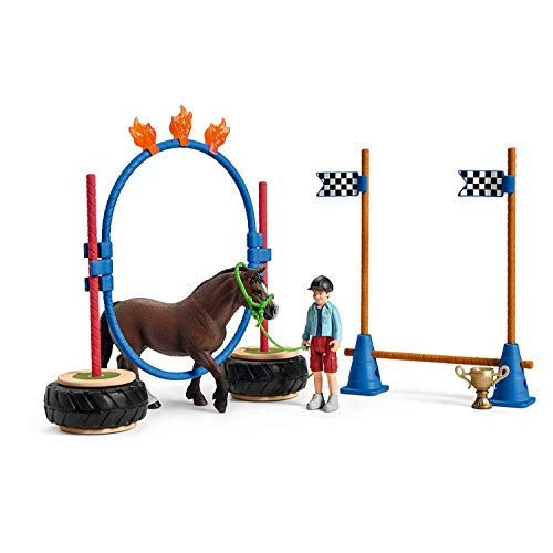 SCHLEICH Pony Agility Training, Farm World (Pony Agility Rennen)