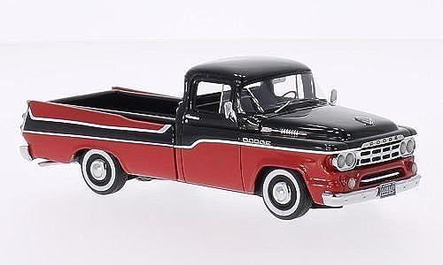 Dodge D 100 Sweptside Pick Up, rot Schwarz 1959, Modellauto, Fertigmodell, Neo 1 43