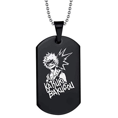 Haushele OFD All·Might Bakugou KatsukiAnime Logo Keychain My Hero Academia Edelstahl Halskette Keychain Dekoration Sammlung Geschenk(Halskette H03)