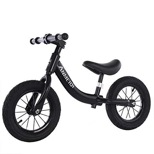 ToysBBS Fin Plus Loopfiets vanaf 2 jaar, stalen kinderfiets met Eva wielen 30,5 cm (12 inch), stuur- en zadelin hoogte verstelbaar, balansfiets voor jongens en meisjes