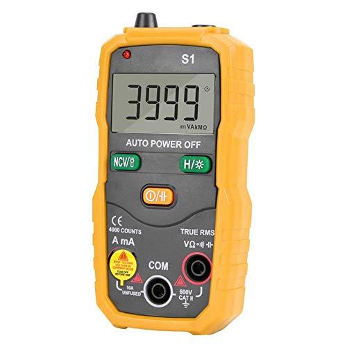 RMS NCV - Multímetro digital inteligente, continuidad, alta presión para electricistas, para oficina en casa (amarillo)