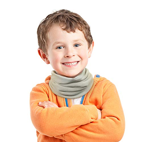THINDUST Kid Neck Warmer - Fleece Neck Gaiters for Boys and Girls - Winter Face Scarf Mask for Child