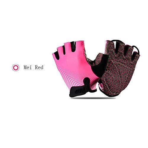 Handschoenen, uniseks, ademend, fitnesshandschoenen, sporthandschoenen, halve vinger, antislip, slijtvast, geschikt voor fietsen, fitnessstudio, bergbeklimmen, wandelen.