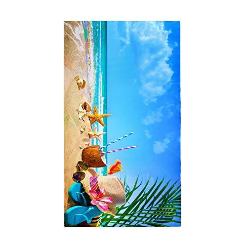 Himlaya Toalla de Playa Grande Microfibra, Anti-Arena Absorbente Toalla de Secado Rápido 3D Impresión Toalla de Baño Toalla de Natación para Piscina Gimnasio Yoga Viajes (Varar,70x150cm)