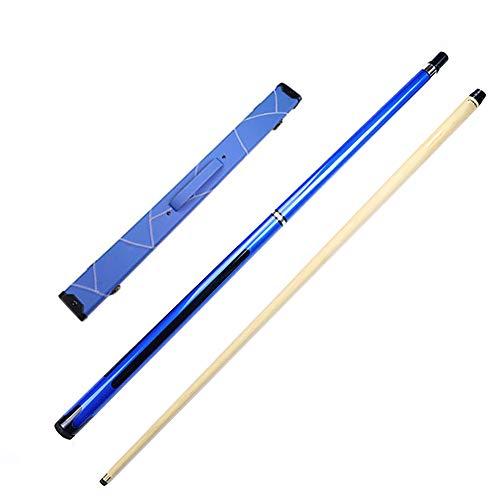 1/2 Maple Pool Queue, 58in 19-20oz Snooker Pool Billard Queue Sticks, 10,5 Mm Queue-Spitzen, Hard Case Tasche zur Auswahl/Blau/Gestängebox