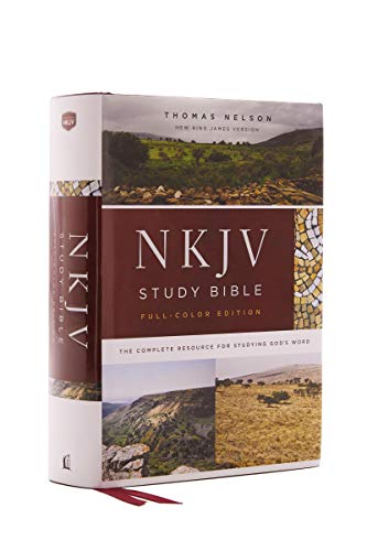 NKJV Study Bible, Hardcover, Burgundy, Full-Color, Comfort Print: The Complete Resource for Studying God's Word