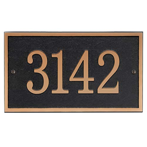 Address Plaque - House Sign Number Wall Plaque (11' x 6.3') Personalized House Sign for House, Apartment, Office, 911 Visibility Signage, Any Font (Copper Color)