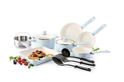GreenLife Cambridge Induction Pro Ceramic Cookware Set, 12-Piece