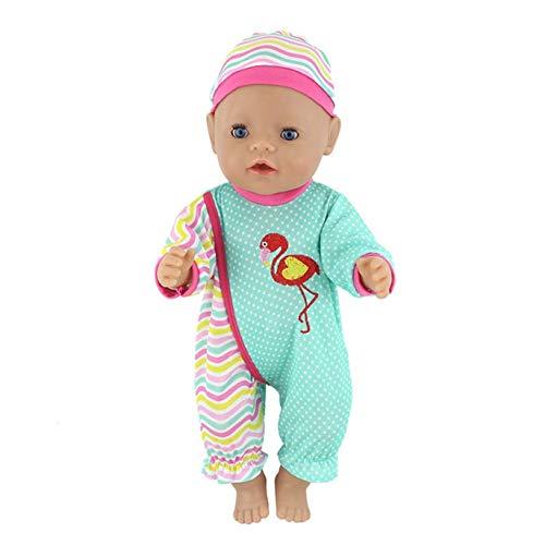 chungeng Haltbar Simulation Puppe Kleidung Süße Küken Tier Schlafanzug Set + Hut für 18 Inch American Puppe &43cm Neugeborene Baby - A033