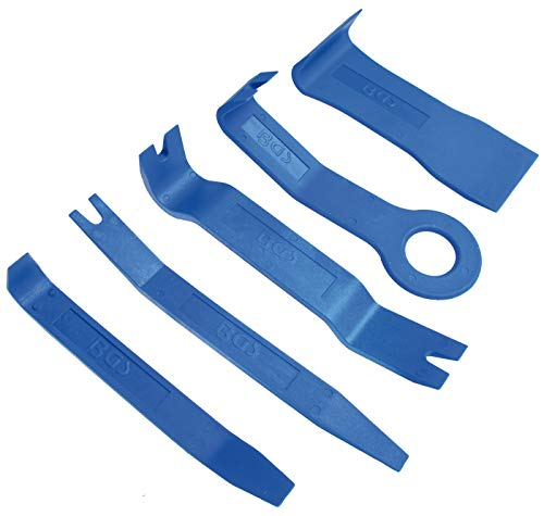 BGS 3027 | Zierleistenkeile-Satz | 5-tlg. | verschiedene Formen | Hebelwerkzeug | Löse- / Demontage-Werkzeug Türverkleidung, Innen-Verkleidung, Zierleisten