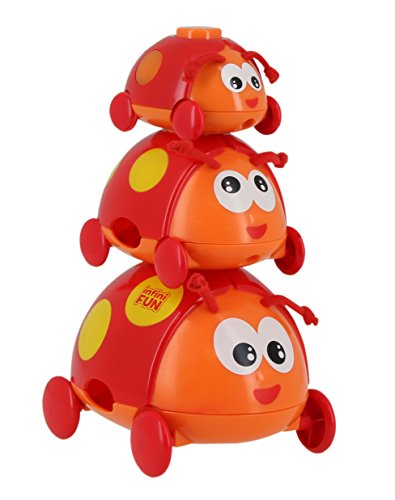 2 Spielmodi Infini Fun DES16550 Fernbedienung Funktionstasten mit realistischen Soundeffekten rot Spielzeug f/ür Babys ab 6 m+ Baby Spielzeugfernbedienung als Giraffe