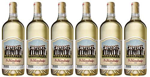 Jidvei   8 MANDRUTE – Vin Alb Demisec   Weißwein halbtrocken aus Rumänien   Weinpaket 6 x 1 L + 1 Kugelschreiber Amigo Spirits gratis