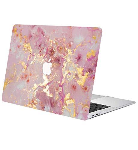 ACJYX Estuche para MacBook Air 13 Pulgadas 2020 2019 2018 Modelo De Lanzamiento A1932 A2179 Carcasa Protectora De Plástico Liso Cubierta Dura para Nueva Versión MacBook Air 13', Oro Rosado