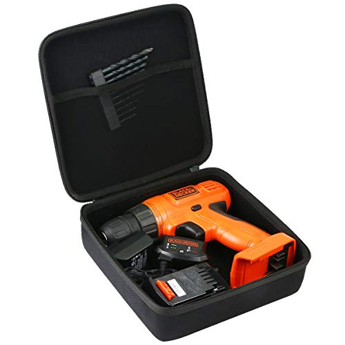 Khanka Hard Storage Case for Black+Decker LDX120C/LD120VA Cordless Drill/Driver