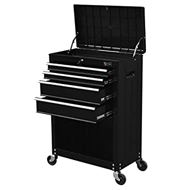 TB3204X-BK Excel 22  Roller Tool Cabinet with 4 Ball Bearing Drawers, 22in, Black