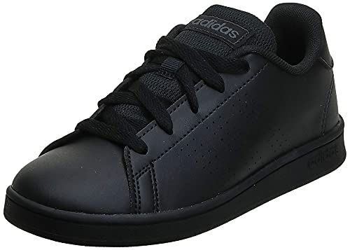 adidas Advantage K, Scarpe da Tennis, Core Black/Core Black/Grey Six, 38 EU