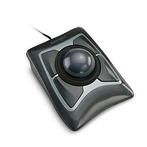 Kensington 64325 Mouse Expert, Mouse Cablato con Trackball, per PC, Mac e Windows, Rotella di Scorrimento, Design Ambidestro, Tracciamento Ottico, Grigio, 55 mm