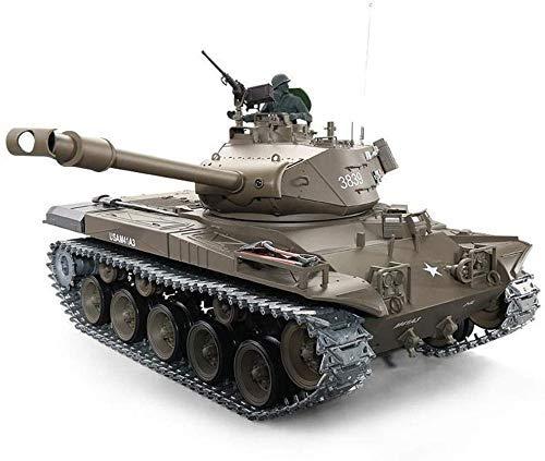 YIQIFEI 1/16 Tanque de simulación 2.4G Control Remoto Hell Buggy American Walker Bulldog M41A3 Tanque de Control Remoto Modelo Smokes Infr (automóvil Inteligente)